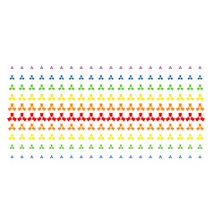Shrink arrows shape halftone spectral effect vector