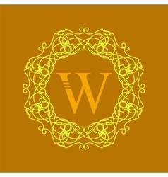 Simple Monogram W vector image