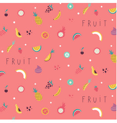 Small fruit and vegetables icons pattern vector