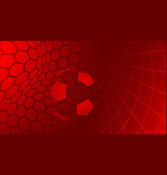 Soccer background in red colors vector