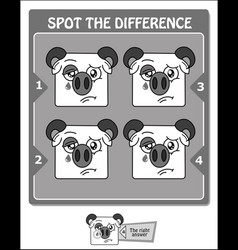 spot the difference black melancholy vector image