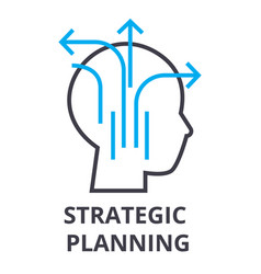 strategic planning thin line icon sign symbol vector image