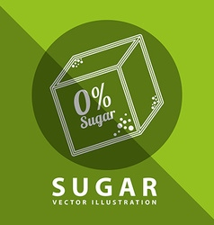 sugar free design vector image