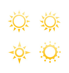 sun logo elements icons vector image