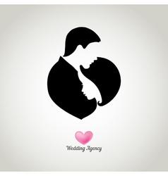wedding agency logo vector image