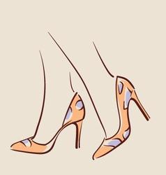 Woman wearing beautiful shoes eps 10 vector