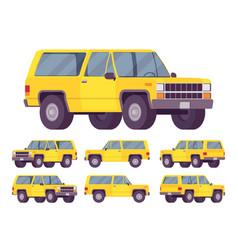 yellow offroad set vector image