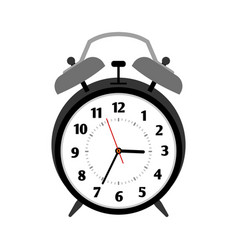 classical black alarm clock vector image vector image