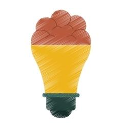 Drawing brain bulb idea innovation creative vector