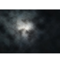 Moon clouds vector image vector image