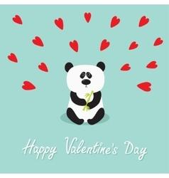 Panda baby bear Cute cartoon character holding vector image