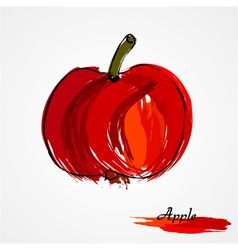 Red apple fruit vector image