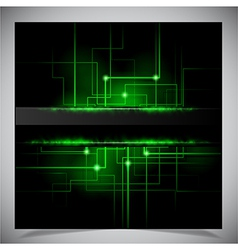 Smooth colorful abstract techno background vector image