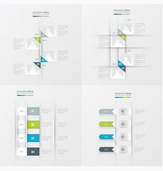 timeline 4 item green blue gray color vector image vector image
