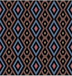 Tribal monochrome pattern vector image vector image