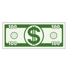 abstract dollar vector image vector image