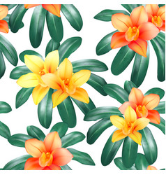 botanical seamless pattern with tropical vector image