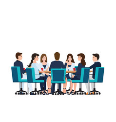 business meeting with business people discussing vector image vector image