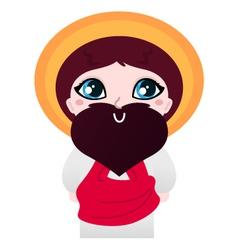 Cute cartoon Jesus Christ character vector image vector image