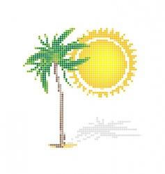 dot style tropics vector image vector image