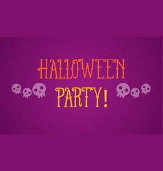 Halloween party on purple background vector