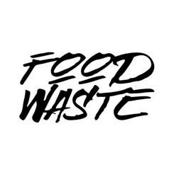 Food waste stamp typographic stamp vector