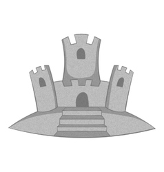 Sand castle icon gray monochrome style vector image