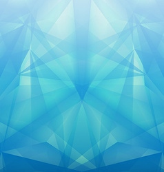 Abstract geometrical blue background vector image vector image