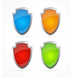 Empty metal shields Icons vector image