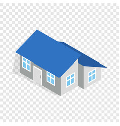 house with annexe isometric icon vector image