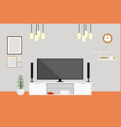 living-room with tv modern design home set vector image vector image