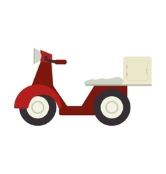 motorcycle scooter delivery pizza vector image vector image