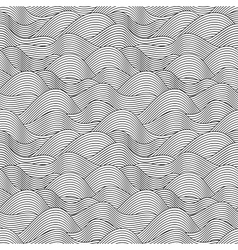 Wave Sketch Seamless Pattern vector image vector image