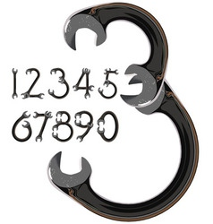 wrench numbers vector image vector image