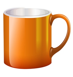 A big orange mug vector image