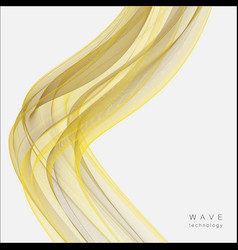 abstract creative wave design vector image