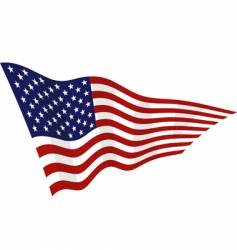 american flag on a wind vector image
