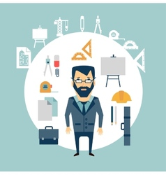 architect of working tools vector image