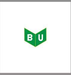 B u joint letter logo vintage design vector