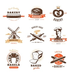 Bakery Shop Emblem Set vector