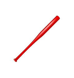 Baseball bat in red design vector
