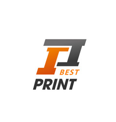 best print sign vector image