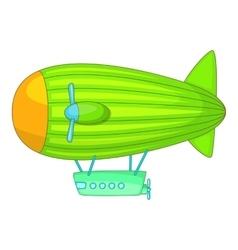 Big airship icon cartoon style vector