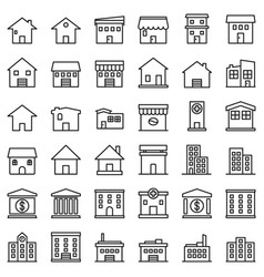 building-outline vector image
