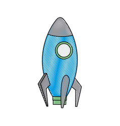 business startup launch concept rocket icon vector image