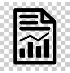 Charts page icon vector