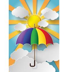 colorful umbrella vector image