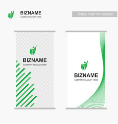comapny advertisment bill board banner with green vector image