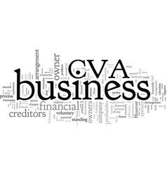 Company voluntary arrangement vector