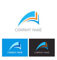 Document abstract logo vector